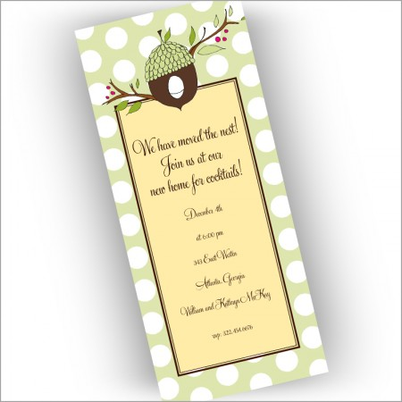 We've Moved Acorn Nest Invitations