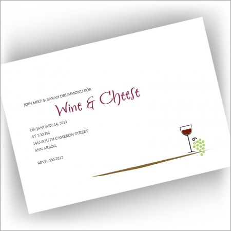 Wine and Cheese Invitations