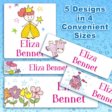 erproof Name Labels - Fairy Tale Design