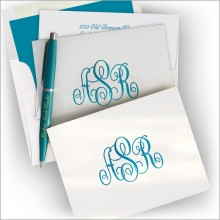 Letterpress Note with 100% Cotton Paper - with Monogram