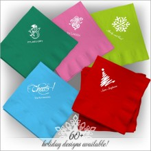 Holiday DYO Color Luncheon Napkins - Matte Ink