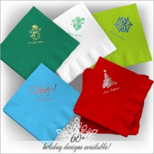 Holiday DYO Color Luncheon Napkins - Foil Stamped