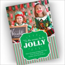 Jolly Holiday Photocard - Format 1