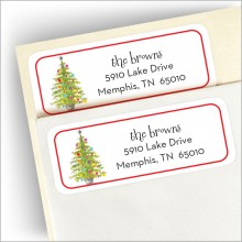 Lively Tree Address Labels
