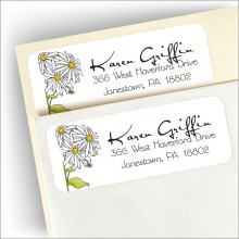 Whimsical Daisy Return Address Labels