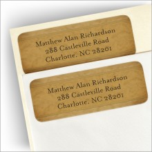 Suede Return Address Labels