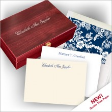 Double Thick Letterpress Cards and Personalized Gift Box