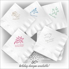 Holiday DYO White Luncheon Napkin - with Design