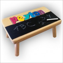 Puzzle Chalkboard Stool