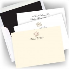 DYO Foil Icon Correspondence Cards - with Monogram