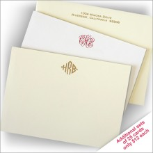 DYO Correspondence Cards - with Monogram