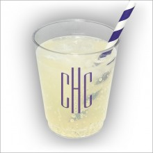 8 oz. Clear Tumbler - with Monogram