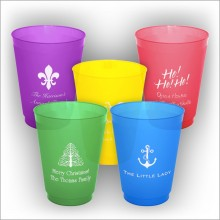 DYO 16oz. Colorful Frosted Tumbler - with Design