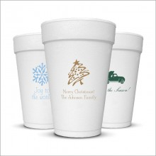 Holiday DYO 16 oz. Foam Cups - with Design