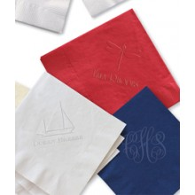 DYO Embossed Luncheon Napkins - with Initial