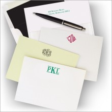 Letterpress Cards with 100% Cotton Paper - with Monogram