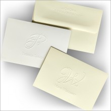 Artistic Embossed Initial Notes
