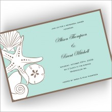 Beach Shells Invitations