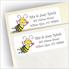 """Bee"" Mine Return Address Label"