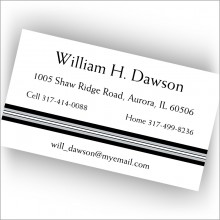 Black Band Calling Cards