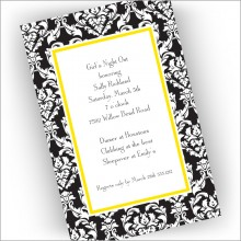 Black Damask Invitations