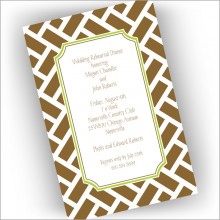 Brown Chippendale Invitations