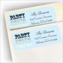 Champagne Speak Return Address Label