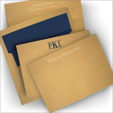 Craft Paper Correspondence Cards