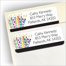 Crazy Candles Return Address Label