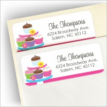 Cupcake Tower Address Labels