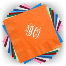 Custom Foil Napkins - Luncheon- with Monogram