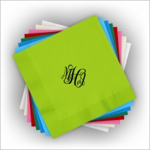 DYO Color Luncheon Napkins - with Monogram - Matte Ink