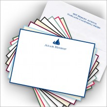 DYO Hand Bordered Correspondence Cards - with Design