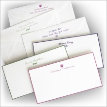 DYO Hand Bordered Slender Correspondence Cards - with Design