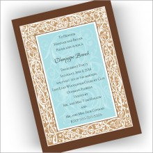 Elegant Border Invitations