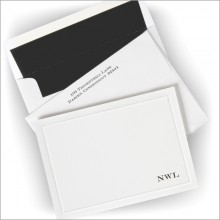 Embossed Border Correspondence Cards- Initial Option