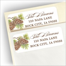 Fir Branches Return Address Label