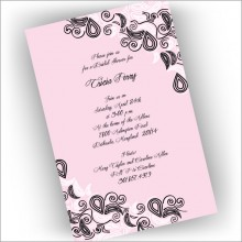 Freeform Pink Invitations