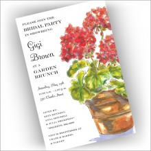 Geraniums Invitations
