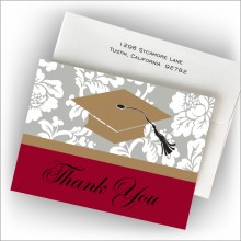 Graduation Cap Thank You Notes