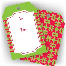 Green and Red Design Jumbo Gift Tags