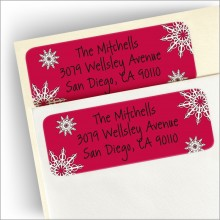 Happy Happy Holidays Return Address Label