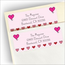 Heart Border Return Address Label