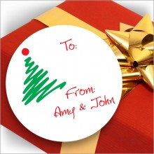 Holiday Gift Stickers - Design 1