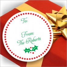Holiday Gift Stickers - Design 2