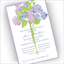 Hydrangeas Invitations