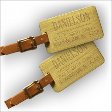 Large Engraved Brass Luggage Tags