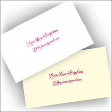 Letterpress Business Cards - Personal