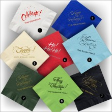 Personalized Colorful Party Napkins