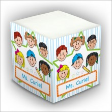 Personalized Self Stick Memo Cubes - Style 31